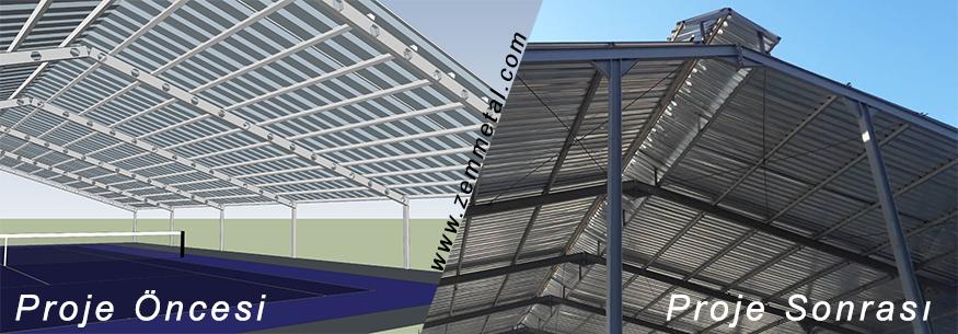 Çelik Konstrüksiyon Çatı İmalatı Hizmetleri